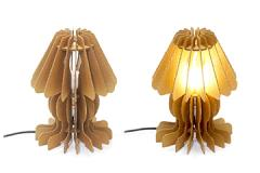 Corrugated Table Lamp